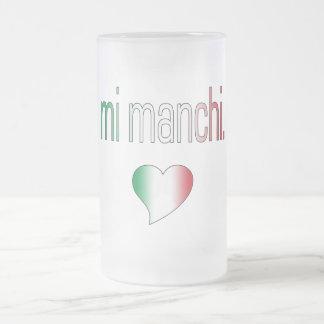 ¡MI Manchi Colores de la bandera de Italia Tazas De Café