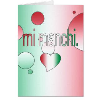¡MI Manchi La bandera de Italia colorea arte pop Felicitaciones