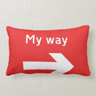 mi manera, muestra almohadas