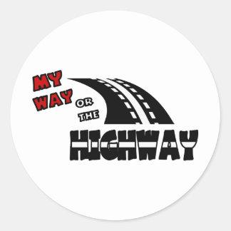 Mi manera o la carretera, 2, con la carretera pegatina redonda