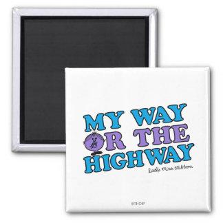 Mi manera o la carretera imán cuadrado