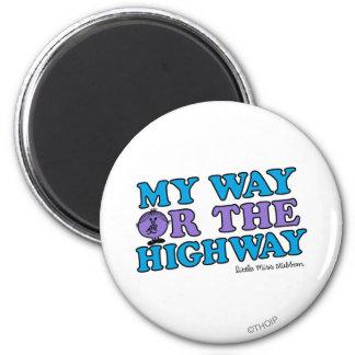 Mi manera o la carretera imán redondo 5 cm