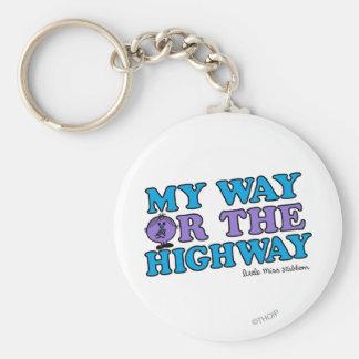 Mi manera o la carretera llavero redondo tipo pin