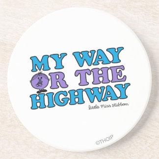 Mi manera o la carretera posavasos de arenisca