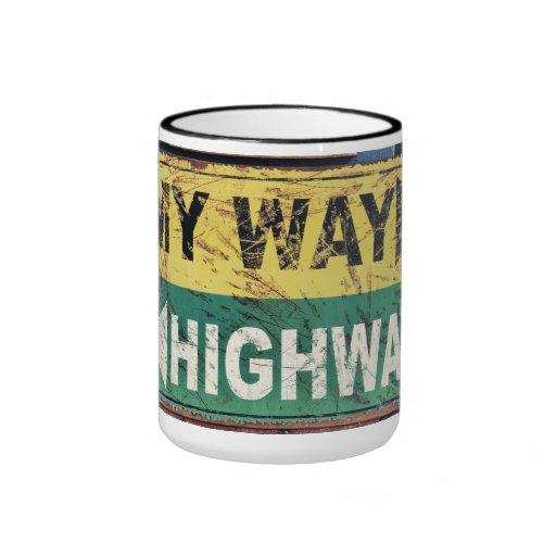 Mi manera o la carretera taza a dos colores