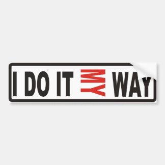 Mi manera pegatina para auto