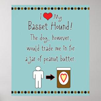 Mi mantequilla de cacahuete de los amores de Basse Póster