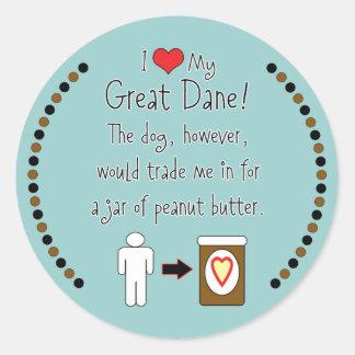 Mi mantequilla de cacahuete de los amores de great pegatina