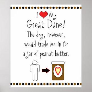 Mi mantequilla de cacahuete de los amores de great póster