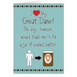 Mi mantequilla de cacahuete de los amores de great felicitacion