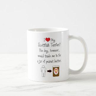 Mi mantequilla de cacahuete escocesa de los amores tazas
