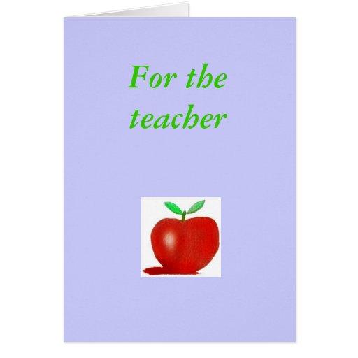 mi manzana, para el profesor felicitación