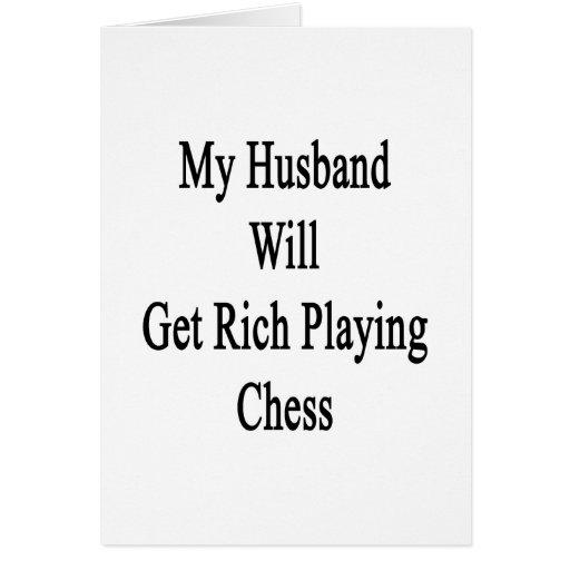 Mi marido conseguirá rico jugando a ajedrez felicitacion