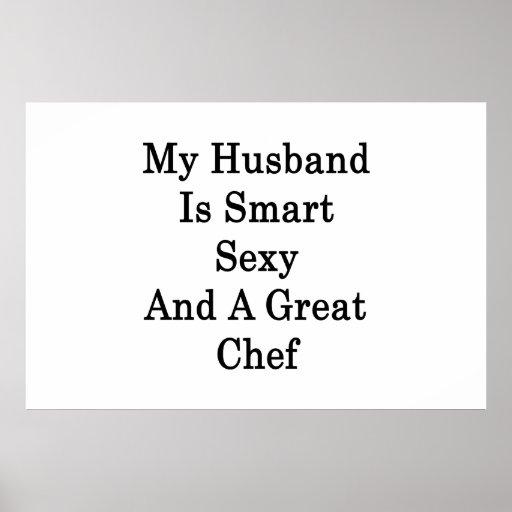 Mi marido es atractivo elegante y gran cocinero póster