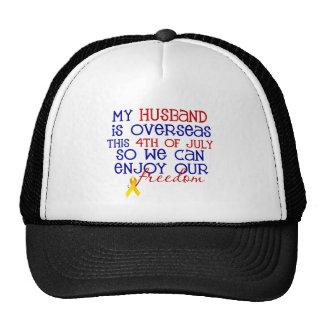 Mi marido es de ultramar… el 4 de julio gorro de camionero