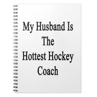 Mi marido es el coche de hockey más caliente spiral notebook