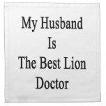 Mi marido es el mejor doctor del león servilleta imprimida