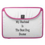 Mi marido es el mejor doctor del perro funda macbook pro