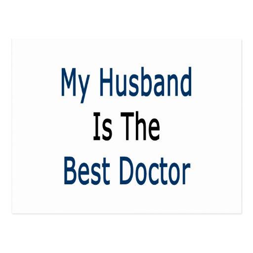 mi marido es el mejor doctor tarjetas postales