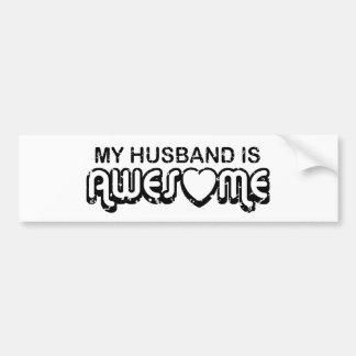 Mi marido es impresionante pegatina de parachoque