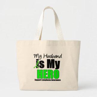 Mi marido es mi héroe bolsa tela grande