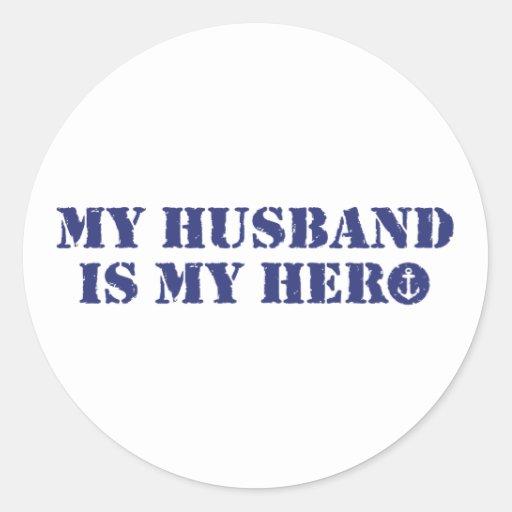Mi marido es mi héroe pegatinas