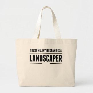 Mi marido es paisajista bolsa tela grande