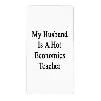 Mi marido es profesor caliente de la economía etiquetas de envío
