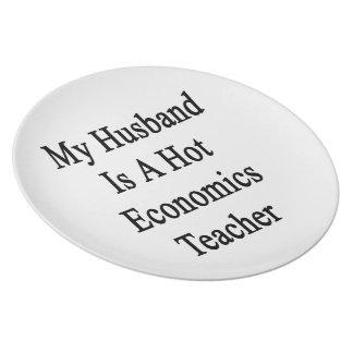 Mi marido es profesor caliente de la economía plato para fiesta