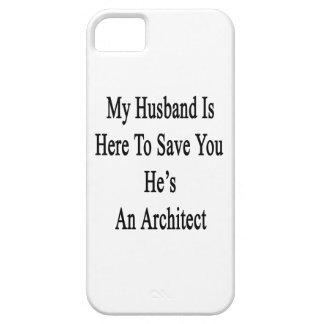 Mi marido está aquí ahorrarle que él es arquitecto iPhone 5 carcasa