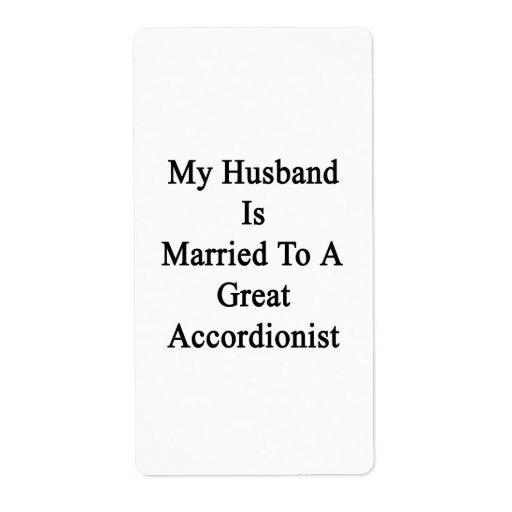 Mi marido está casado con un gran acordeonista etiqueta de envío