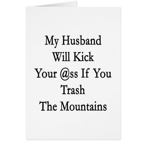 Mi marido golpeará su asno con el pie si usted Tra Tarjeton