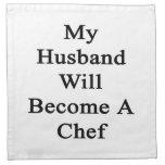 Mi marido hará cocinero servilleta de papel