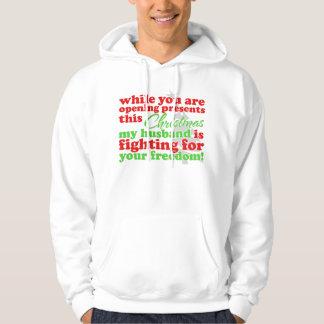 Mi marido - luchando para su libertad suéter con capucha