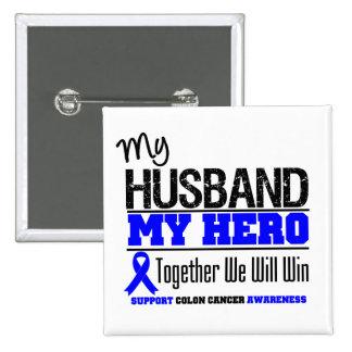 Mi marido, mi cáncer de colon del héroe pin