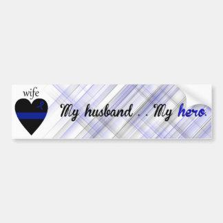 Mi marido Mi héroe Pegatina De Parachoque