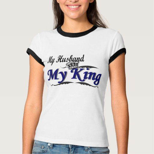 Mi marido, mi rey T-Shirt Playeras