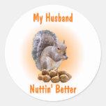 Mi marido pegatina redonda