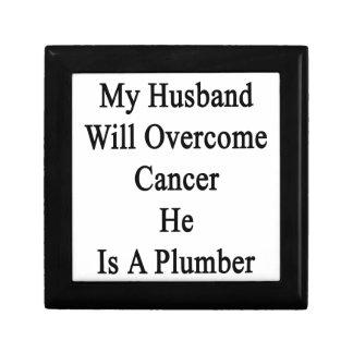 Mi marido superará al cáncer que él es fontanero caja de joyas