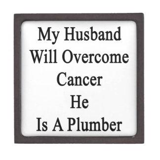 Mi marido superará al cáncer que él es fontanero caja de joyas de calidad