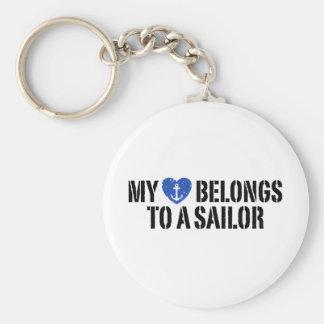 Mi marinero del corazón llavero redondo tipo pin