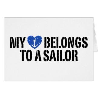 Mi marinero del corazón tarjeta de felicitación