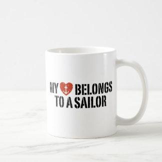 Mi marinero del corazón taza clásica