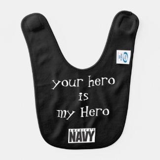 mi marinero es mi héroe babero para bebé