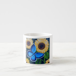 Mi Mariposa Azul Espresso Cup
