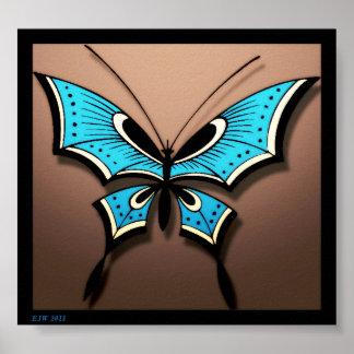 Mi mariposa azul posters