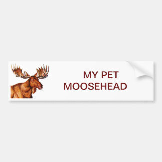 MI MASCOTA MOOSEHEAD PEGATINA PARA AUTO