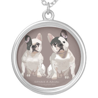 Mi-mee and Brutus Round Pendant Necklace