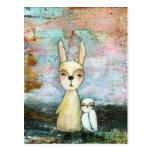 Mi mejor amigo, conejo del bebé, arte abstracto de postal