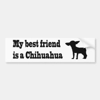 Mi mejor amigo en un Chihuahua. Pegatina Para Auto